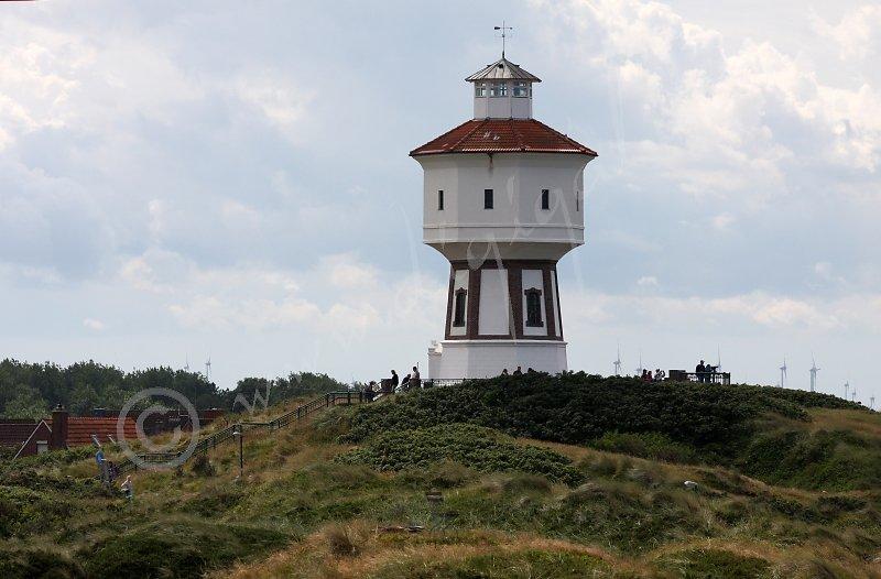 Wasserturm von Langeoog erblickt